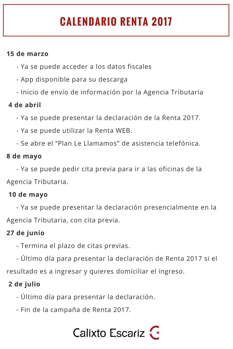 Renta 2017: Así puedes pedir cita previa